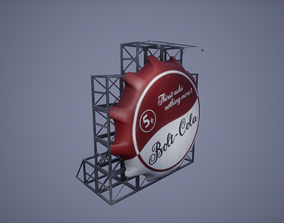 game-ready 3D Billboard Low Poly Game Ready