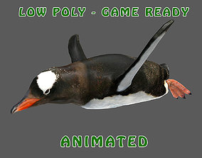 3D asset Low poly Penguin Animated - Game Ready