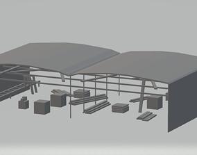 3D asset Low Poly Sawmill