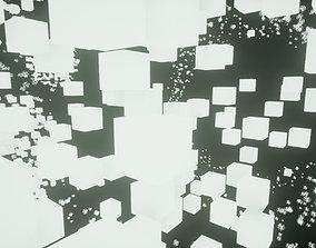 Galaxy made of cubes 3D