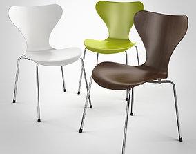 Serie 7 Chair by Arne Jacobsen 3D model
