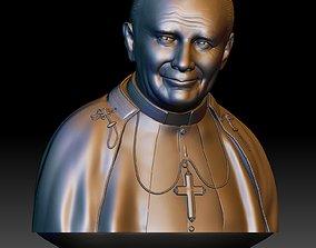 Pope John Paul II portrait printable