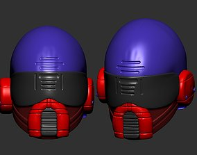 presentation helmet high poly sculpt 3d printable