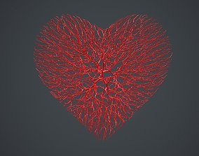 Heart shape made out of wires 3D model