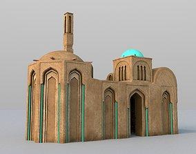3 Level LOD ancient Eastern Building 3D asset