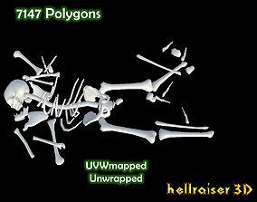 Dead Skeleton 3D asset