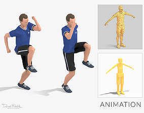 Run In Place Exercise Man Animation 3D asset