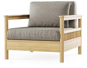 Tribeca outdoor lounge armchair 3D