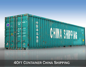3D model 40ft Shipping Container - China Shipping
