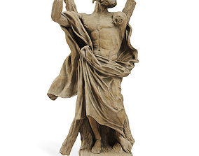Classic sculpture Ercole Ferrata ST ANDREW THE APOSTLE 3D