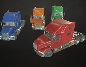 3D asset Semi Truck Tractor