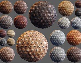 20 Wooden 3D Panel Materials 04 - PBR - 4K realtime