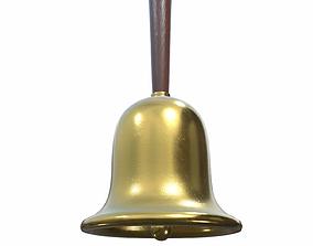 3D model Gold Hand Bell - PBR