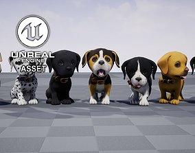 Stylized Puppy 3D asset