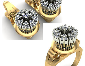 ring WOMAN SET RING AND EARRINGS 3D model