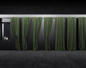 3D model curtain set 05