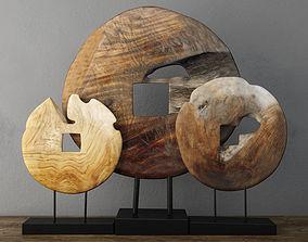 sea 3D Teak Wood Table Top Decoration