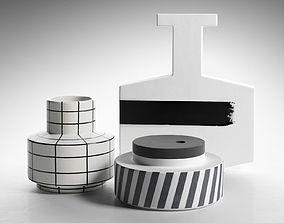 Black and White Vases 3D model