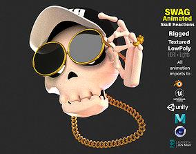 Animated SwagSkull Emoji 3D model
