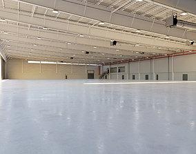 Airplane Hangar Interior 9 3D asset