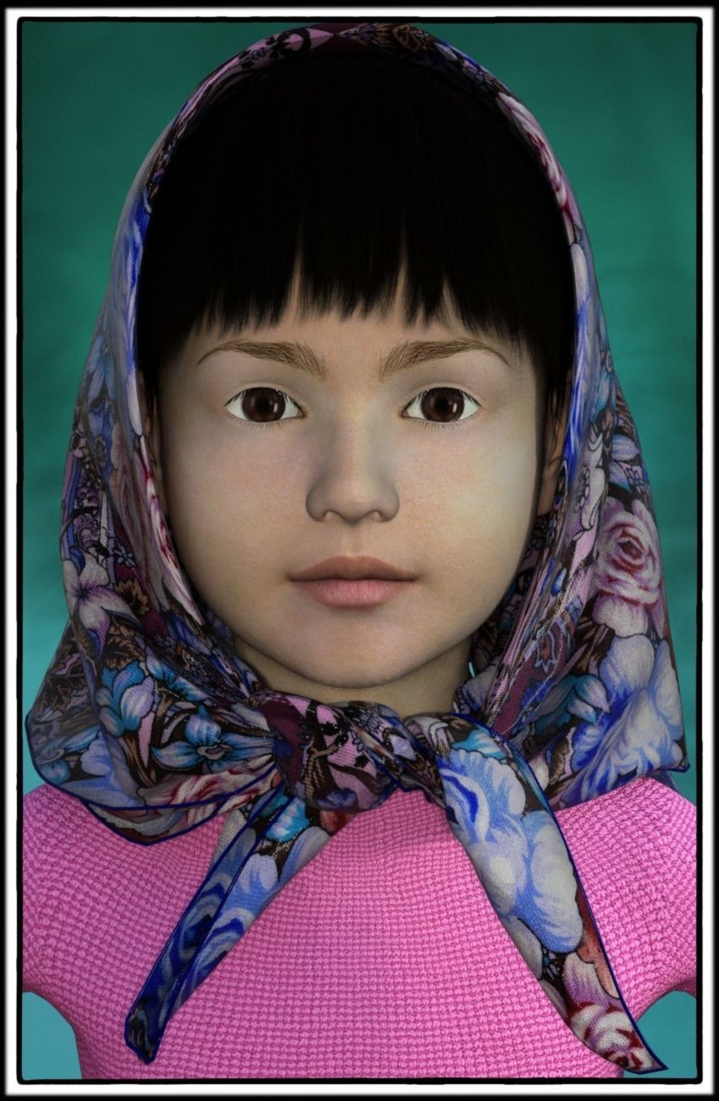 The little girl in the shawl
