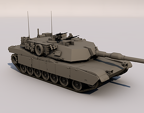 M1A1 Abrams 3D model rigged