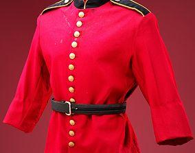 English Guard Costume 3D model