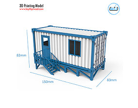 Portable Office Container 3D Printing Model