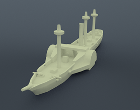 3D print model Amazonas Steam Frigate
