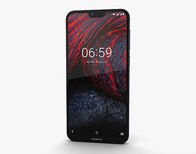 Nokia 6-1 Plus Blue 3D model