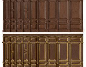3D model Wooden panels 03 01