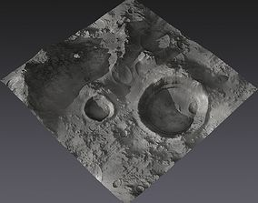 Large-Scale Moon Environment - Craters 3D asset realtime