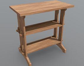 3D model game-ready PBR Shelf