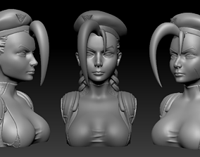 3D printable model Bust - Cammy White