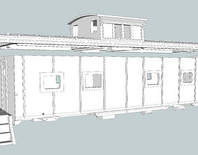 scale M5 Caboose N Scale SCL 3D printable model