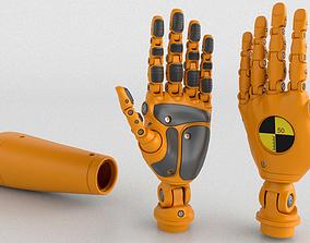3D model Crash Test Dummy Robot Android mechanical hand