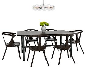 3D Dining Furnitures Set 45