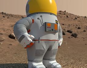 3D asset Low-Poly Cartoon Astronaut