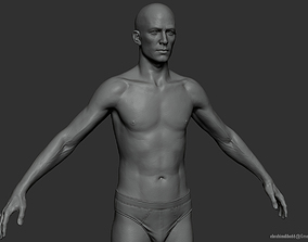 3D asset Male Body 2 Sculpt - Updated