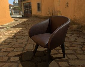 Occasional Chair 3D model realtime