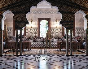 Moroccan living room 3D model