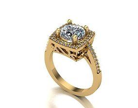 swarovski style single stone ring 3D printable model