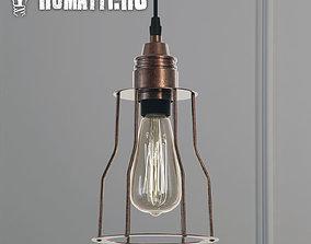3D Hanging lamp Romatti Red Filament Marconi Cage