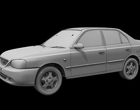 hyundai accent car 3d model