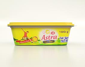 food 100g Margarine Box 3D