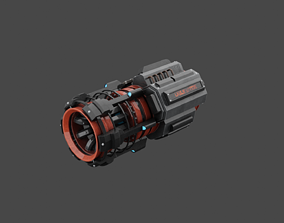 High Quality Sci-Fi Generator ready For 3D asset 2