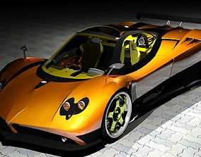 Zonda Pagani Drag Mod Roadster 3D