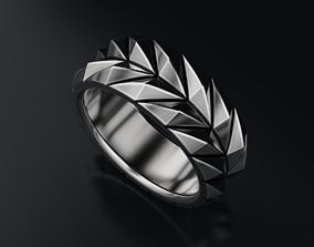 3D printable model Stylish brutal ring 636