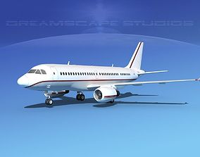 3D Airbus A319 Corporate 4