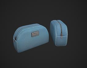 3D model Light Blue Makeup Bag - Cosmetics Bag